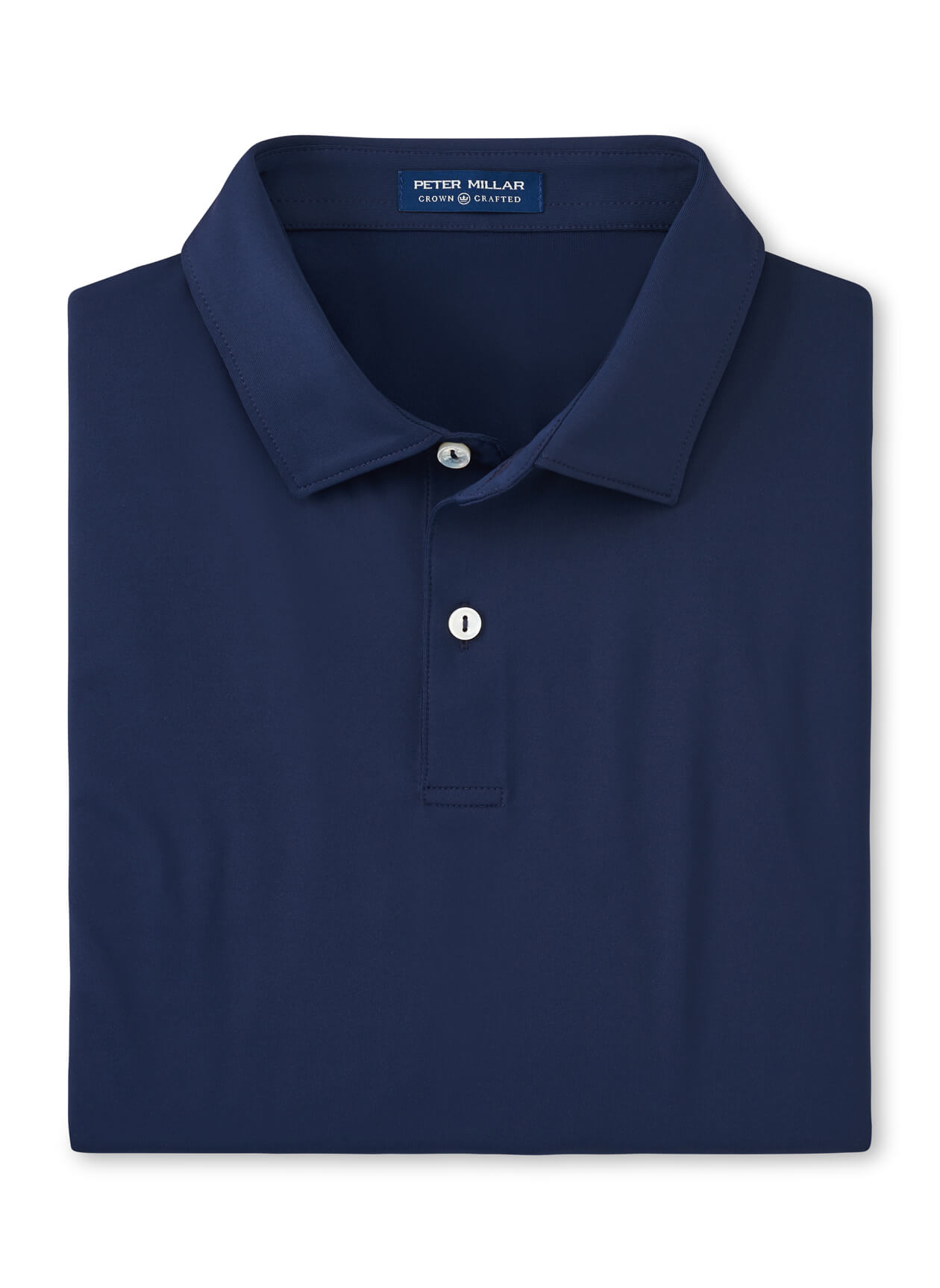 Peter Millar Men's Solid Performance Jersey Polo