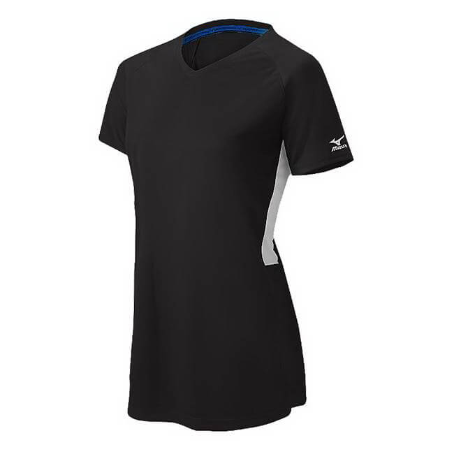 Mizuno Girl's Compression Short Sleeve V-Neck Jersey