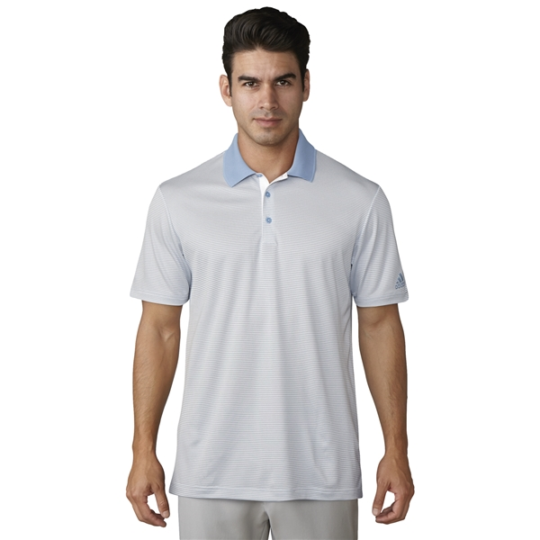 adidas 2 color stripe polo