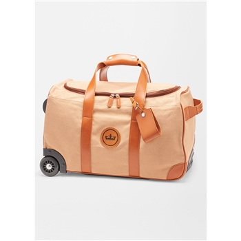 Peter Millar Crown Seal Canvas Rolling Duffle
