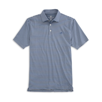 Southern Tide Men's Driver Striped Brrr Performance Polo