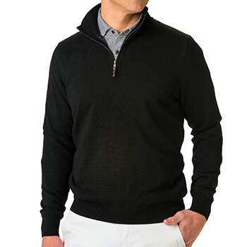 Fairway & Greene Men's Baruffa 1/4 Zip Windsweater
