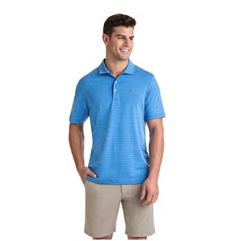Vineyard Vines Men's Kennedy Stripe Sankaty Performance Polo