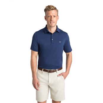 Vineyard Vines Men's Tempo Solid Pique Polo