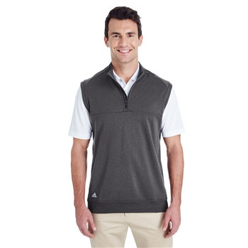 adidas Men's Golf Quarter-Zip Club Vest