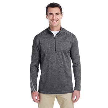 adidas Men's Golf Brushed Terry Heather Quarter-Zip