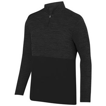 Augusta Men's Shadow Tonal Heather 1/4 Zip Pullover
