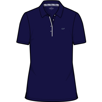 Vineyard Vines Women's Solid Pique Polo