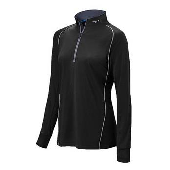 Mizuno Girl's Compression 1/2 Zip Hitting Top