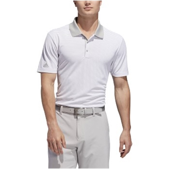 Adidas Men's Performance 2-Color Stripe Polo