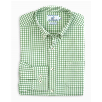 Southern Tide Men's Long Sleeve Bluffhead Gingham IC Sporshirt