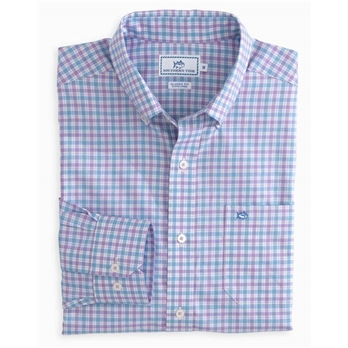 Southern Tide Men's LS Seaward Plaid Sportshirt