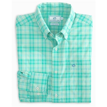Southern Tide Men's LS Convoy Plaid IC Sportshrt