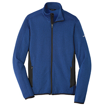 Eddie Bauer Men's Full-Zip Heather Stretch Fleece Jacket