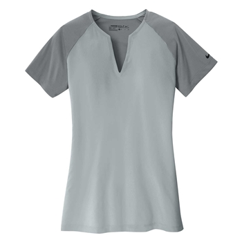 Nike Women's Dri-Fit Stretch Woven V-Neck Top