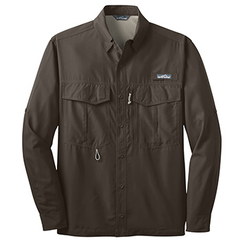 Eddie Bauer Men's Long Sleeve Performance Fishing Shirt