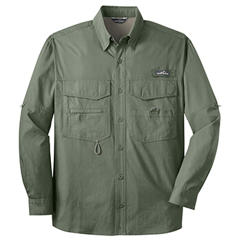 Eddie Bauer Men's Long Sleeve Fishing Shirt