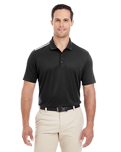 adidas Men's Golf 3-Stripes Shoulder Polo