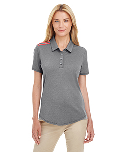 adidas Women's Golf 3-Stripes Shoulder Polo