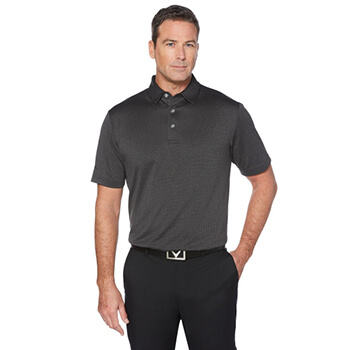 Callaway Golf Men's Heathered Jacquard Polo