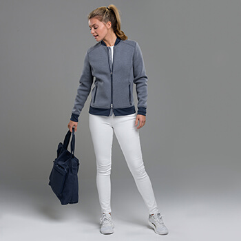 Zero Restriction Women's Frankie Knit Bomber Jacket