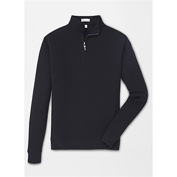 Peter Millar Men's Tri-Blend Melange Fleece 1/4-Zip