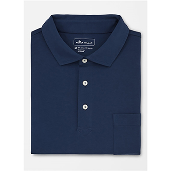 Peter Millar Men's Solid Seaside Wash Polo