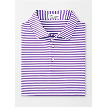 Peter Millar Men's Competition Stripe Self Collar