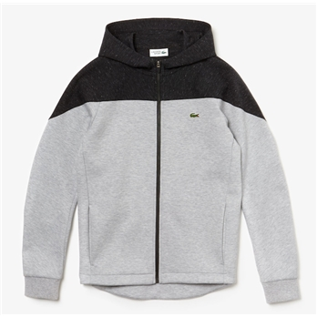 Lacoste Men's Sport Hooded Fleece Zip Sweatershirt