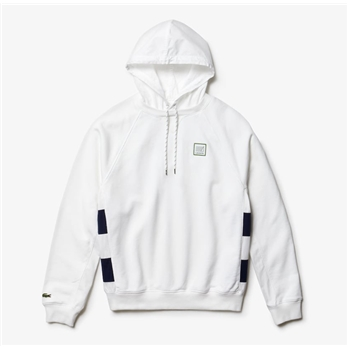 Lacoste Men's Hooded Fleece Sweatshirt W/ Exclusive Badge