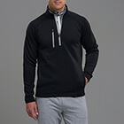 Zero Restriction Men's Z500 1/4 Zip Pullover - Black