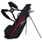 Titleist Players 4 Carbon Stand Bag - Black/Black/Red