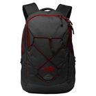 The North Face Groundwork Backpack - Dark Grey Heather/Cardinal Red