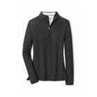 Peter Millar Women's Mélange Perth Quarter-Zip Layer - Black