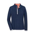 Peter Millar Women's Mélange Perth Quarter-Zip Layer - Navy