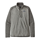 New Patagonia Men's Better Sweater 1/4-Zip - Nickel w/ Forge Grey