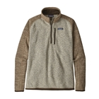 New Patagonia Men's Better Sweater 1/4-Zip - Bleached Stone w/ Pale Khaki