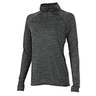 Women's Charles River Space Dyed Pullover - Black