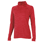 Women's Charles River Space Dyed Pullover - Red