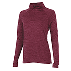 Women's Charles River Space Dyed Pullover - Maroon