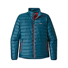 Patagonia Men's Down Sweater - Big Sur Blue W/Fire Red