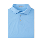 Peter Millar Men's Solid Stretch Mesh Self Collar - Cottage Blue