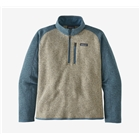 New Patagonia Men's Better Sweater 1/4-Zip - Bleached Stone With Pigeon Blue