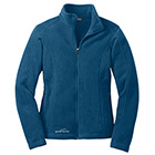 Eddie Bauer Women's Full-Zip Fleece Jacket - Deep Sea Blue