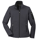 Eddie Bauer Women's Rugged Ripstop Soft Shell Jacket - Grey Steel/ Black
