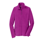 Eddie Bauer Women's Full-Zip Microfleece Jacket - Deep Magenta