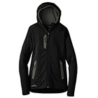 Eddie Bauer Women's Sport Hooded Full-Zip Fleece Jacket - Black