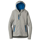 Eddie Bauer Women's Sport Hooded Full-Zip Fleece Jacket - Gy Cld/GS/ExBl