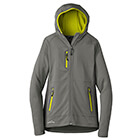 Eddie Bauer Women's Sport Hooded Full-Zip Fleece Jacket - Met Gy/GS/Citr