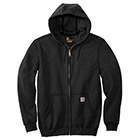 Carhartt Men's Midweight Hooded Full Zip Sweatshirt - Black